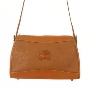 VINTAGE Dooney Bourke Orange All Weather Leather